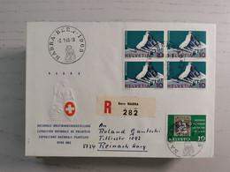 1965 NABA Bern, Sonderbeleg Mit Viererblock - Covers & Documents