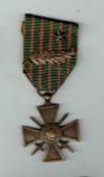 Croix De Guerre 14-18 Avec Palme Et étoile - Francia