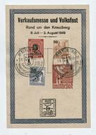 Grünaufdruck MiNr. 64-67; Ersttags-Karte (Michel 6500 €) Mit SoStpl. BPP Und DDR-gepr. - Covers & Documents
