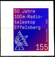 BRD - Mi 3622 Gestanzt Aus MH 123 ✶✶ (C) - 155c    50 Jahre Radioteleskop Effelsberg - Ausg.: 06.08.2021 - Unused Stamps