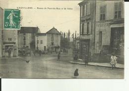 70 - Haute Saone - Vauvillers - Routes De Pont Du Bois Et Selles - Attelage - Poules Sur La Route - - Otros Municipios