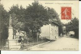 70 - Haute Saone - Montagney - La Vierge Et Le Bureau De Poste - La Fontaine - Animée- - Otros Municipios