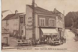 Epinay-sous-Senart  91  La Mairie De La Commune Libre EtCafé-Restaurant Epicerie-Tabac TOURTIER Tres Tres Animée - Epinay Sous Senart
