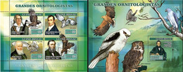 Guinea Bissau 2007, Ornitologist, Owls, Eagles, 4val In Bf+BF - Owls