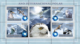 Guinea Bissau 2007, Polar Year I, Owl, Birds, 4val In BF - Owls
