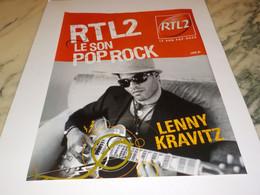 ANCIENNE PUBLICITE LENNY KRAVITZ LE SON POP ROCK  AVEC RTL  2005 - Andere