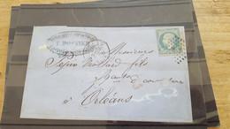 LOT552485 TIMBRE DE FRANCE OBLITERE SUR ENVELOPPE N°22 - 1862 Napoleone III