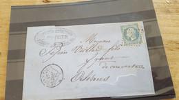 LOT552486 TIMBRE DE FRANCE OBLITERE SUR ENVELOPPE N°22 - 1862 Napoleone III