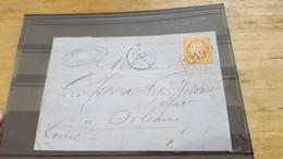 LOT552487 TIMBRE DE FRANCE OBLITERE SUR ENVELOPPE N°23 - 1862 Napoleone III