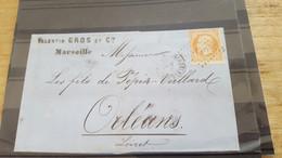 LOT552488 TIMBRE DE FRANCE OBLITERE SUR ENVELOPPE N°23 - 1862 Napoleone III