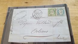 LOT552499 TIMBRE DE FRANCE OBLITERE SUR ENVELOPPE N°20/37 - 1862 Napoleone III