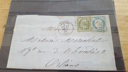 LOT552500 TIMBRE DE FRANCE OBLITERE SUR ENVELOPPE N°20/37 - 1862 Napoleone III