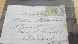 LOT552501 TIMBRE DE FRANCE OBLITERE SUR ENVELOPPE N°20/37 - 1862 Napoleone III