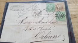 LOT552518 TIMBRE DE FRANCE OBLITERE SUR ENVELOPPE - 1862 Napoleone III