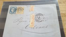 LOT552522 TIMBRE DE FRANCE OBLITERE SUR ENVELOPPE - 1871-1875 Ceres