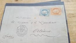 LOT552525 TIMBRE DE FRANCE OBLITERE SUR ENVELOPPE - 1871-1875 Ceres