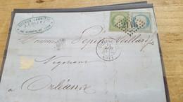 LOT552526 TIMBRE DE FRANCE OBLITERE SUR ENVELOPPE - 1862 Napoleone III