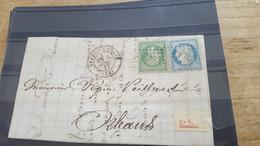 LOT552527 TIMBRE DE FRANCE OBLITERE SUR ENVELOPPE - 1862 Napoleone III