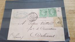 LOT552529 TIMBRE DE FRANCE OBLITERE SUR ENVELOPPE - 1862 Napoleone III