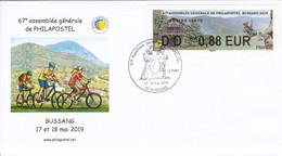Bussang Vosges Randonnée 2019 Philapostel Avec LISA Creation De Sophie Beaujard - Commemorative Postmarks