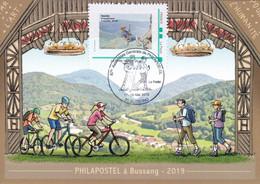 Bussang Vosges Randonnée 2019 Philapostel Carte Postale Sophie Beaujard MTAM Sophie Beaujard - Commemorative Postmarks
