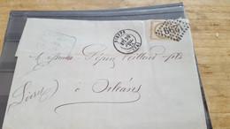 LOT552534 TIMBRE DE FRANCE OBLITERE SUR ENVELOPPE - 1871-1875 Ceres