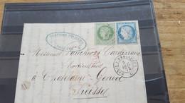 LOT552535 TIMBRE DE FRANCE OBLITERE SUR ENVELOPPE - 1871-1875 Ceres