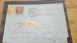 LOT552536 TIMBRE DE FRANCE OBLITERE SUR ENVELOPPE - 1871-1875 Ceres