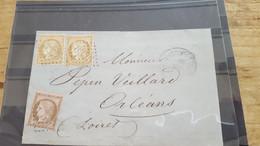 LOT552537 TIMBRE DE FRANCE OBLITERE SUR ENVELOPPE - 1871-1875 Ceres