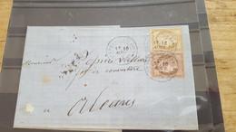 LOT552538 TIMBRE DE FRANCE OBLITERE SUR ENVELOPPE - 1871-1875 Ceres