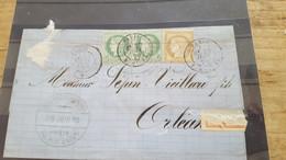 LOT552539 TIMBRE DE FRANCE OBLITERE SUR ENVELOPPE - 1871-1875 Ceres