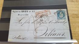 LOT552551 TIMBRE DE FRANCE OBLITERE SUR ENVELOPPE - 1862 Napoleone III