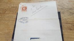 LOT552552 TIMBRE DE FRANCE OBLITERE SUR ENVELOPPE - 1871-1875 Ceres