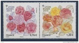 N° 4957 & 4958 Congès Mondial Des Stés De Roses 2015 à Lyon Faciale 0,76+1,20 € - Nuevos