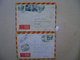 SPAIN / ESPANA - 2 LETTERS SENT FROM MADRID AND ROBLEDO (SEGOVIA) IN 1952 IN THE STATE - 1951-60 Cartas