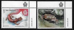 "SAN MARINO /SAINT  MARIN -EUROPA 2021 -ENDANGERED NATIONAL WILDLIFE""- SERIE De 2 V. - CH - SUP - DER - 2020"