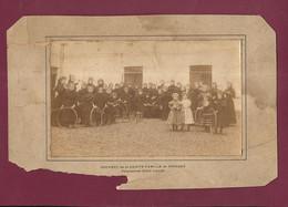 290721D - PHOTO ANCIENNE - 82 MOISSAC Couvent De La Sainte Famille Fillette Jeu Quille Cerceau Pensionnat Saint Joseph - Moissac