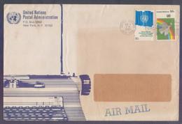 United Nations (New York) Postal History Big Cover On Flying Birds, Postal Used 6.8.1981 - Briefe U. Dokumente