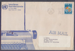 United Nations (New York) Postal History Big Cover On Human Environment, Postal Used 1.6.1982 - Briefe U. Dokumente