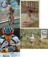 USA United States Spain Switzerland USSR Russia 1956 / 2007 4 Maximum Card Sport Cycling Bike - Ciclismo