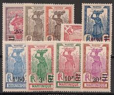 Martinique - 1924-27 - N°Yv. 111 à 119 - Série Complète - Neuf Luxe ** / MNH / Postfrisch - Ungebraucht