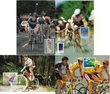 France Norway Portugal Switzerland 1972 / 2000 4 Maximum Card Sport Cycling Bike - Ciclismo