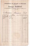 Dépt 77 - FAREMOUTIERS - Entreprise De Battage Et Pressage Georges BARBIAT - Facture De Février 1941 - Faremoutiers
