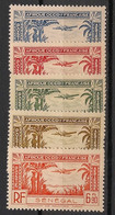 Sénégal - 1940 - Poste Aérienne PA N°Yv. 13 à 17 - Série Complète - Neuf Luxe ** / MNH / Postfrisch - Posta Aerea