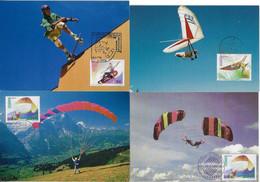 Portugal 1997 4 Maximum Card SportHang Gliding Skateboarding Skate SK8 Paragliding Parachuting - Otros