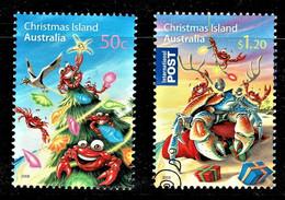Christmas Island 2008 Christmas Set Of 2 Used - Christmaseiland