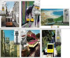 Portugal 2010 6 Maximum Card Transport Public Elevator Train Tram Railway - Treni
