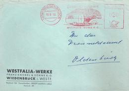 "Freistempel  ""Campingfreuden Mit Westfalia, Wiedenbrück""            1960 - Automobili"