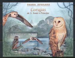 Sao Tome Et Principe 2013 Birds, Owls MS MUH - Sao Tome And Principe