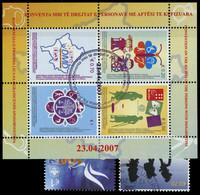 2007, Kosovo, Bl. 5 U.a., Gest. - Kosovo